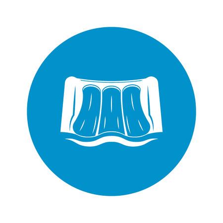 dam: Vector illustration of dam water icon