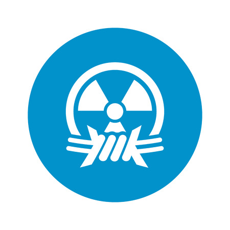 vector nuclear: Vector illustration of nuclear icon