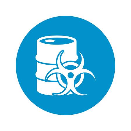 anthrax: Vector illustration of barrel icon Illustration