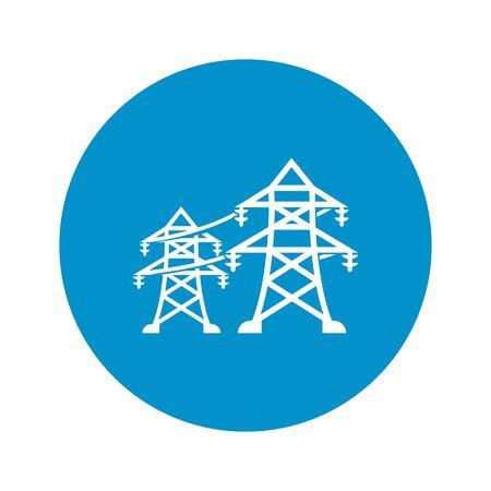 Ilustración del vector del icono del poste eléctrico Ilustración de vector