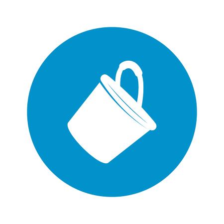 bucket: Vector illustration of bucket icon Illustration