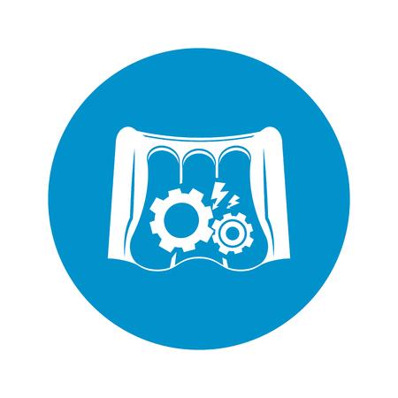 dam: Vector illustration of dam icon Illustration