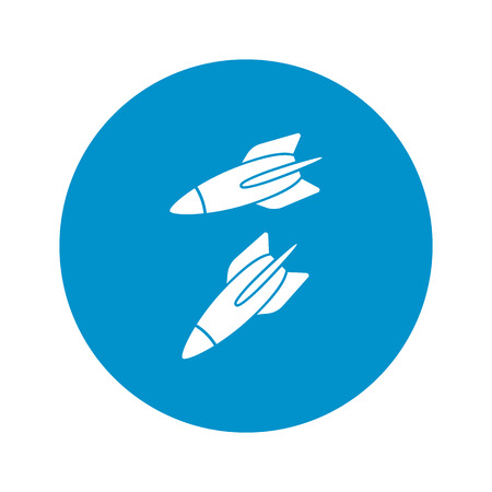 projectile: Vector illustration of rocket icon Illustration