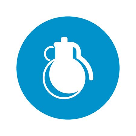 grenade: Vector illustration of grenade icon