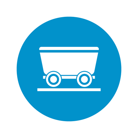 wagon wheel: Vector illustration of cart icon Illustration