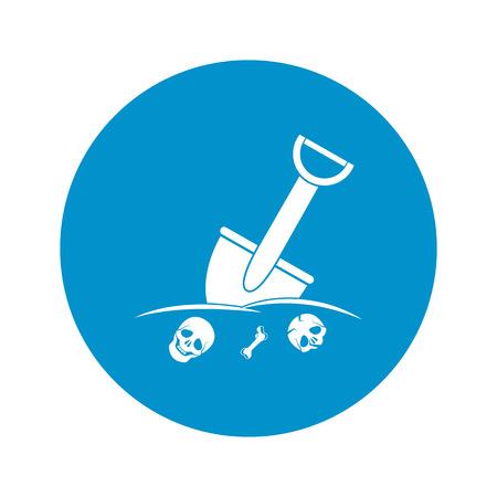 Vector illustration of  shovel icon
