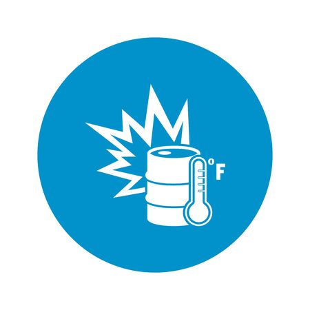barrel bomb: Vector illustration of barrel icon Illustration