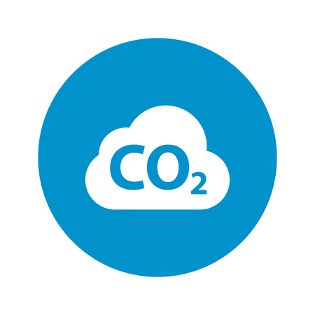 co2 emissions: Vector illustration of cloud icon