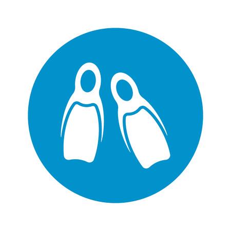 flippers: Ilustraci�n del vector del icono de Aletas Vectores