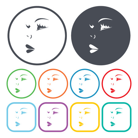 face to face: Ilustration of face