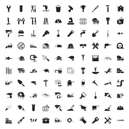mercenary: repair 100 icons set for web flat
