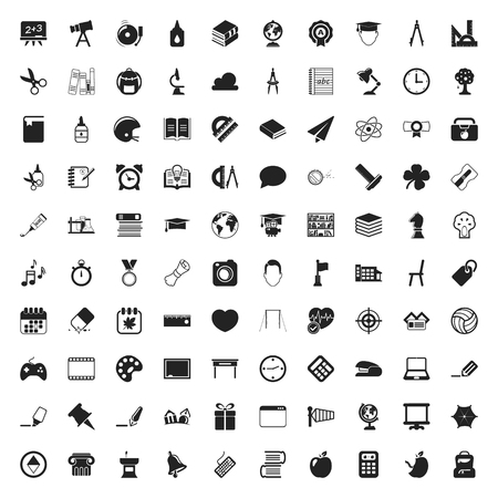 pen icon: education 100 icons set for web flat