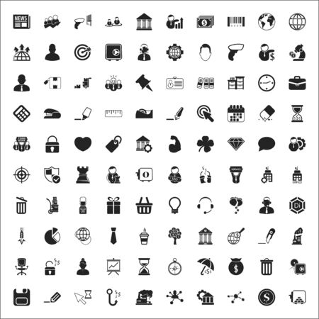find staff: business 100 icons universal set for web and mobile