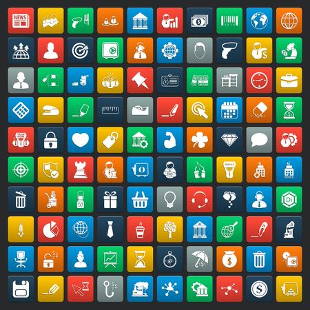 bedrijf 100 iconen universele set voor web en mobiel