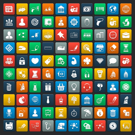 business 100 icons universal set for web and mobile Reklamní fotografie - 48664963