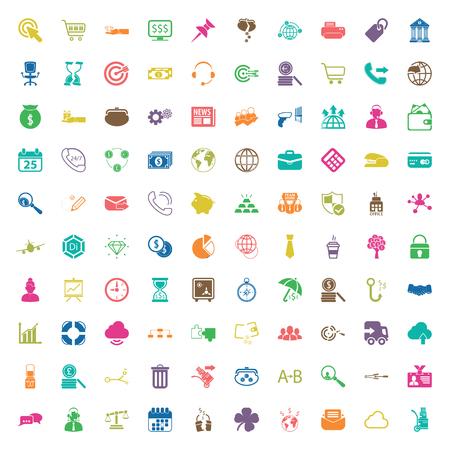 zakelijke 100 pictogrammen universele set voor web en mobiel