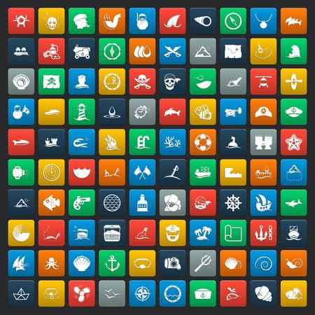 balon: sea 100 icons universal set for web and mobile