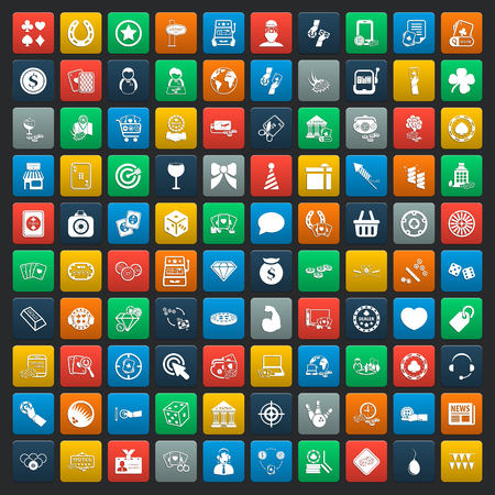 casino chips: casino 100 icons universal set for web and mobile