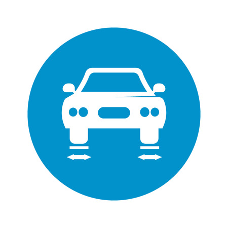balancing: car balancing icon on white background for web