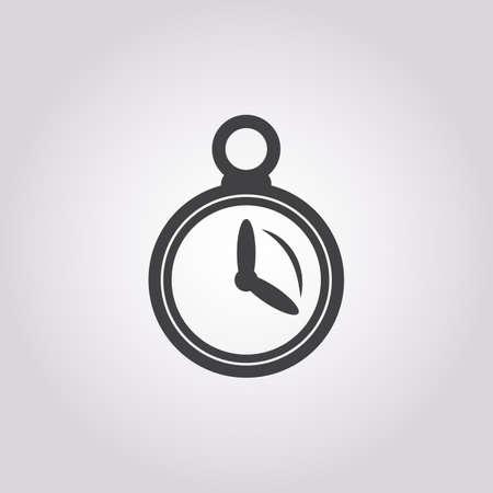 cronometro: icono del cron�metro en el fondo blanco para la web