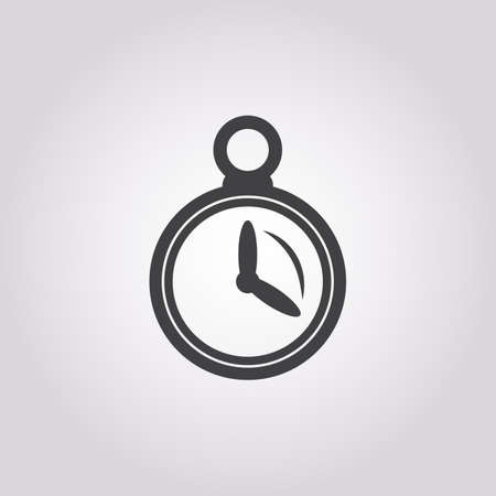 stopwatch: stopwatch icon on white background for web