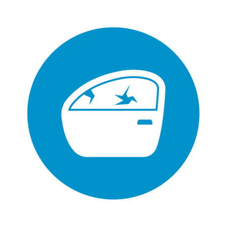 toning: car door icon on white background for web