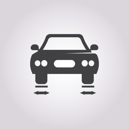 spoiler: car balancing icon on white background for web