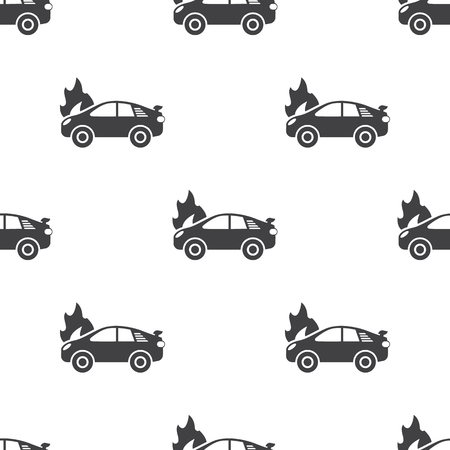 spoiler: car fire icon on white background for web Illustration