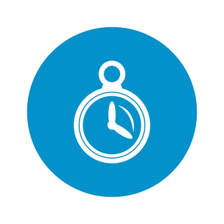 cronometro: icono del cronómetro en el fondo blanco para la web