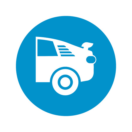spoiler: car repair icon on white background for web