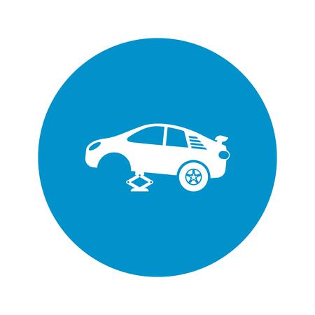 lifting jack: tire car jack icon on white background for web Illustration
