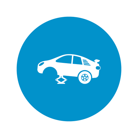 spoiler: tire car jack icon on white background for web Illustration