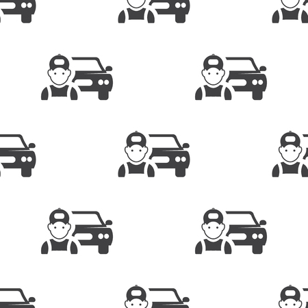 spoiler: car mechanic icon on white background for web