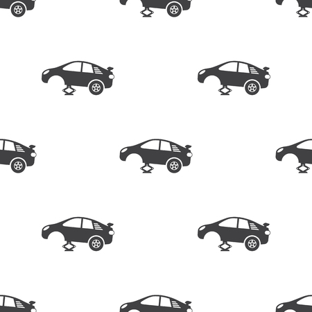 spoiler: tire car jack icon on white background for web Illustration