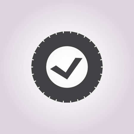 tire change: tire icon on white background for web
