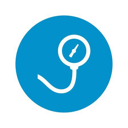 pressure gauge: pressure gauge icon on white background for web