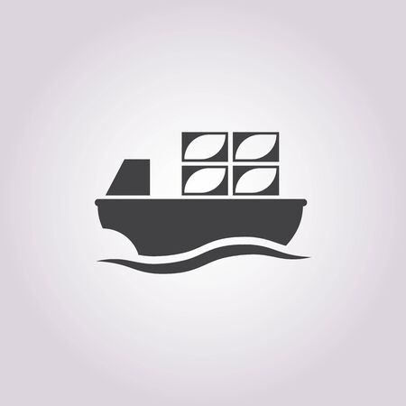 barge: barge  icon on white background for web