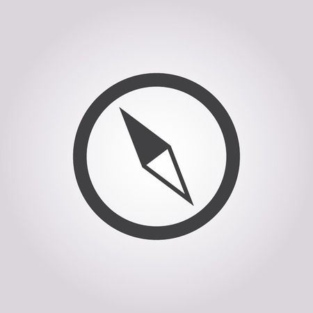 tool icon: compass icon on white background for web