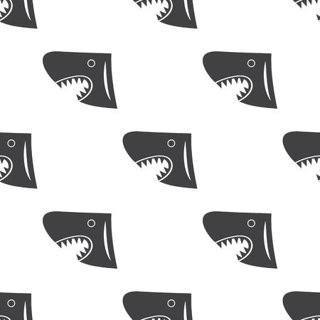tail fin: shark icon on white background for web