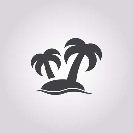 island icon on white background for web Illustration