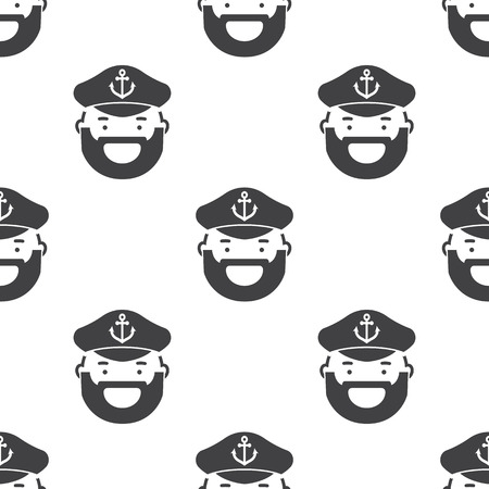 captain icon on white background for web