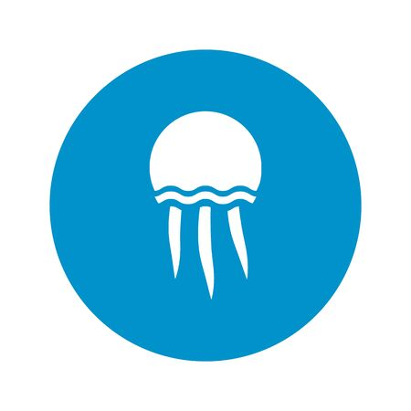 jellyfish: jellyfish icon on white background for web