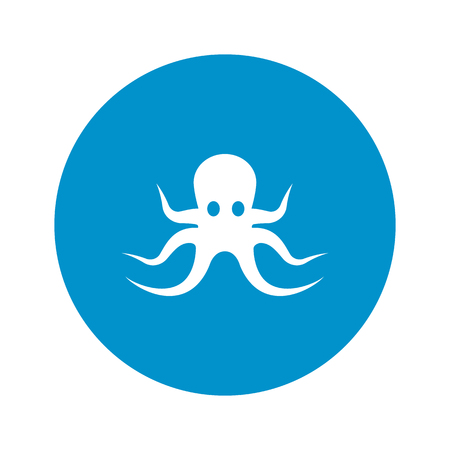 eight legs: octopus icon on white background for web