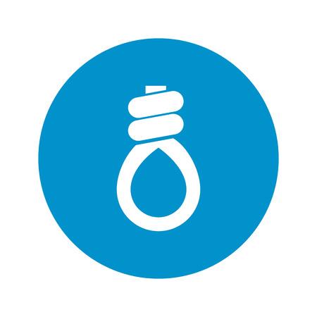bucle: icono de lazo sobre fondo blanco para la web