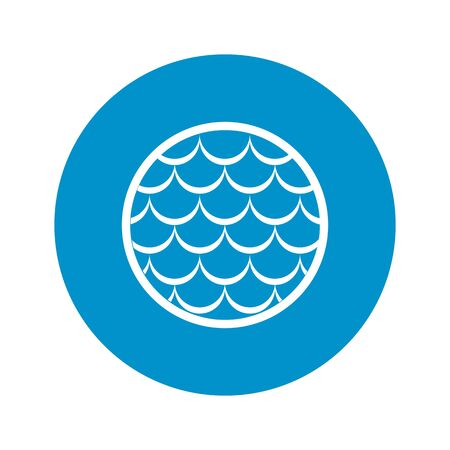 fish with scales: fish scales icon on white background for web Illustration