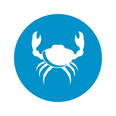 crab legs: crab icon on white background for web