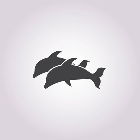 dolphins: dolphin icon on white background for web