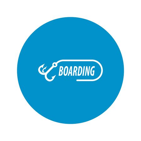 hostages: boarding icon on white background for web