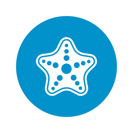 occupant: starfish  icon on white background for web
