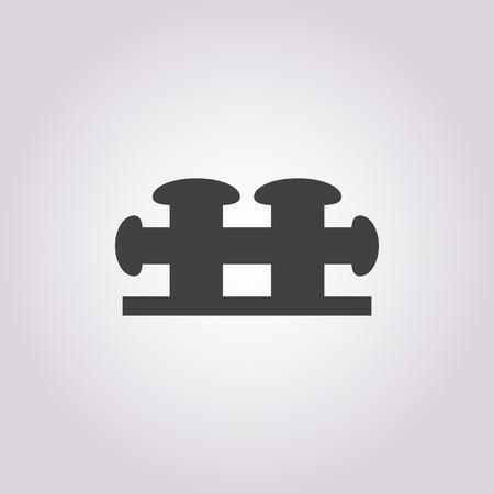 mooring: mooring bollard icon on white background for web Illustration
